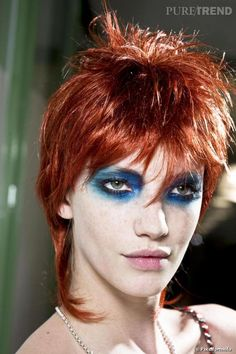 Our social Life Glam Rock Makeup, Punk Makeup, Edgy Makeup, Male Makeup, Grunge Makeup, Grunge Hair, Make Up Looks, Beauty Make-up, Hair Beauty
