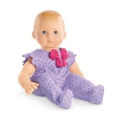 Bitty Baby Doll: light skin, blond hair, blue eyes - Purple Daisy Sleeper | dollbb | American Girl