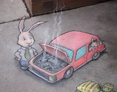 David Zinn - chalk art