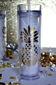 16 Oz Pineapple Skinny Acrylic Tumbler Bride Custom Bridal Party Favors Shower Bachelorette Wedding Bridesmaid Gifts Shower Birthday Gold by FortissimoDesigns on Etsy