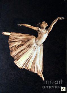 Ballerina Pyrography - Ilaria Andreucci