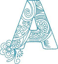 ZenDoodle Alphabet - Machine Embroidery Designs