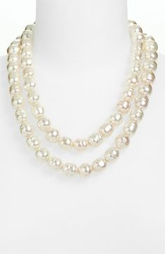 Majorica Double Row Baroque Peal Necklace | Nordstrom