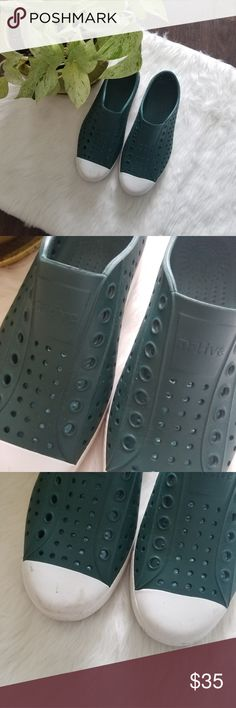 Native waterproof shoes Great shoes. Womans size 7 mens size 5 Native Shoes
