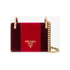 ddba5b4a8342 Shop Prada Red Velvet Pattina shoulder bag at Browns.