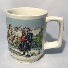 Vintage Stavangerflint Collectable mug, Norske Bunader Mugs, Tableware, Unique Jewelry, Handmade Gifts, Etsy, Vintage, Kid Craft Gifts, Dinnerware, Tumblers