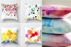 Дизайн диванных подушек.
