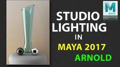 How to Create Studio Lighting setup in Maya 2017 Using ARNOLD