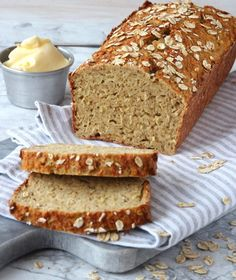 Piece Of Bread, Dairy Free Recipes, Bread Baking, Lchf, Free Food, Banana Bread, Cooking, Desserts, Diabetes