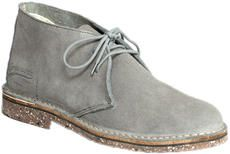 Empreinte - Chaussure femme cuir velours gris. Made in France.