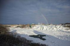 Tiefgefrorene Niagara-Fälle: Zu Eis erstarrt