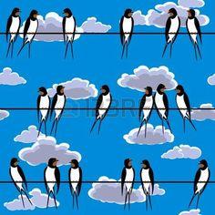 Αποτέλεσμα εικόνας για swallows on a wire wallpaper