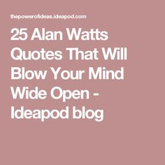 25 Alan Watts Quotes That Will Blow Your Mind Wide Open - Ideapod Alan Watts, The Orator, Blow Your Mind, Liking Someone, Spiritual Quotes, Travel Quotes, Wise Words, Philosophy, Best Quotes