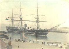 Hr.Ms. Van Speijk (1887-1940) komt de haven van Den Helder binnen
