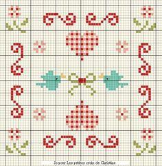Grille 80 : Douceur d'été - les petites croix de Christine