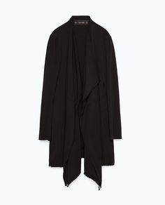 ZARA - WOMAN - LONG FLOWING JACKET WITH CORD