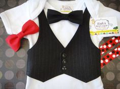Mickey Mouse Birthday Outfit Boy  Mickey Mouse by NoahsBoytiques, $16.00