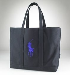 Large Canvas Tote In Black $54.21