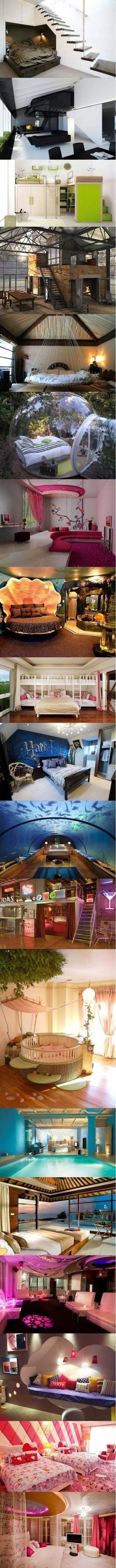 Great ideas for a bedroom...now to choose ???