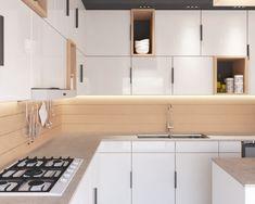 Design interior - Amenajare bucatarie - Kitchen design - Bucatarie deschisa Design Interior, Design Projects, Kitchen Cabinets, Home Decor, Houses, Kitchen Maid Cabinets, Interior Design, Home Interiors, Decoration Home