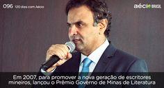 Criação do Prêmio Governo Minas de Literatura.