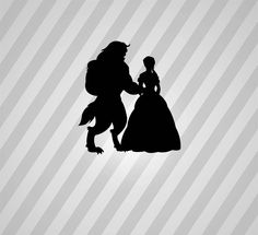 beauty and the beast Silhouette - Svg Dxf Eps Silhouette Rld RDWorks Pdf Png AI Files Digital Cut Vector File Svg File Cricut Laser Cut