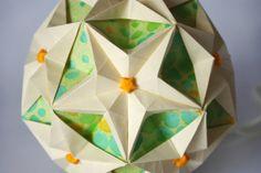 Origami paper ball - Kusudama Sea Stars. Handmade decoration for your home