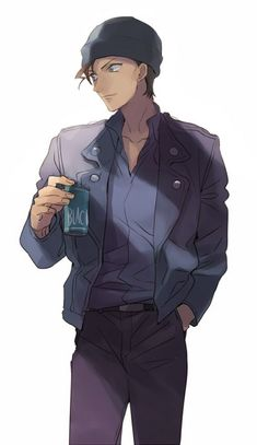 One of My favourite character Akai -Detective Conan ❤ Magic Kaito, Sherlock Holmes, Detective Conan Wallpapers, Amuro Tooru, Kaito Kid, Detektif Conan, Kudo Shinichi, Kaichou Wa Maid Sama, Another Anime