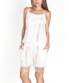 White Lace Romper by Tantra #zulilyfinds