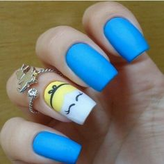Nail Art Designs For Short Nails Fancy Nails, Love Nails, Pretty Nails, My Nails, Disney Nail Designs, Nail Art Designs, Disney Inspired Nails, Easy Disney Nails, Cinderella Nails