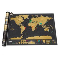 Mapka zdrapka Świat - Deluxe