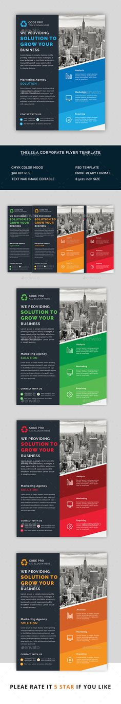 Travel Flyer Business flyer templates, Business flyers and - corporate flyer template