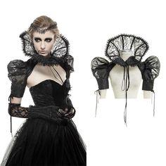 PUNK RAVE Viktorianischer Kragen Spitzen-Kragen Victorian Lace Collar GOTHIC