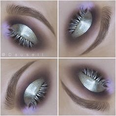 Product List: • @katvondbeauty Innerstellar palette • @maccosmetics pigment in 'Platinum' mixed with Creme Gloss Brillance • @anastasiabeverlyhills @anastasianordic Brow Powder duo in 'Medium Brown' and Clear Brow Gel • @lorealparisofficial Brow Artist plumper in 'Medium/Dark'  #dausell #eotd #eyemakeup #eyeshadow #motd #makeup #smink #sminke #mua #makeupartist