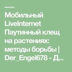 Мобильный LiveInternet Паутинный клещ на растениях: методы борьбы   Der_Engel678 - Дневник Der_Engel678  