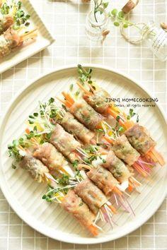 야채 가득~ 대패삼겹살말이 만들기 : 네이버 블로그