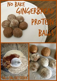 These No Bake Gingerbread Protein Balls are the PERFECT pre and/or post workout snack. You can also just keep them on hand for when a craving strikes! #Sponsored by @kohls #MakeYourMove Clean Eat Recipe: No Bake Gingerbread Protein Balls | He and She Eat Clean