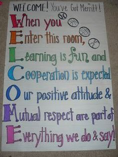 "Download BLM: ""WELCOME! You've Got Merritt!""  Anchor Chart for beginning the year in HPE."