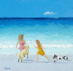 Holiday Fun beach prints #beach #golden retriever #jack russell