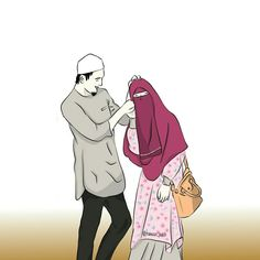 Image uploaded by Muslim Girl. Find images and videos about couple, islam and muslim on We Heart It - the app to get lost in what you love. Couples Musulmans, Cute Muslim Couples, Muslim Girls, Anime Couples, Love Cartoon Couple, Cute Couple Art, Niqab, Muslim Images, Muslim Couple Photography