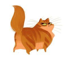 """Милая серия иллюстраций """"Сытые коты"""" кот, рисунок"""
