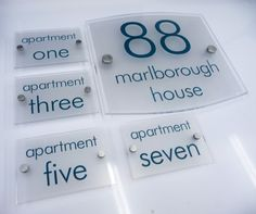 Exterior Wall Signs House Name Plate And Apartment Numbers De Signage