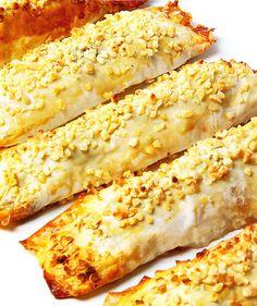 Canelones de pasta filo con plátano y ch ... by www.vinosyrecetas.com
