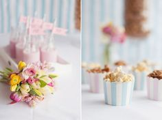 spring wedding inspiration  // Suppliers: Photography: Fiona Kelly Photography // Styling & Flowers: Louise Beukes for .loved // Popcorn Buffet: Creative Candi // Hair, makeup & nails: Lisa Hancox // Dresses: Madeline Isaac-James & Nicki MacFarlane at No. 10 Bridal // Tulle Skirt: Doris Designs // Bridal Accessories: Blackbirds Pearl // Pompoms, bunting & candy stripe accessories: Pretty Little Party Shop  // Menu:  White Knot // Venue: The Bingham