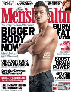 K apamilya hunk actor Jericho Rosales goes shirtless on the cover of Men's Health Philippines magazine September 2012 issue. Jericho Rosales, Slim And Fit, Muscle Up, Old Magazines, Sexy Curves, Asian Men, Fitspiration, Gym Workouts, Blues