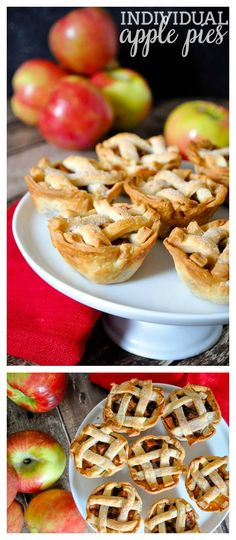 Individual Apple Pies are filled with delicious fall flavors and make the perfect holiday dessert!   The Love Nerds
