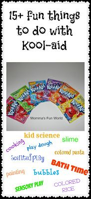: Science experiments for kids using Kool-Aid