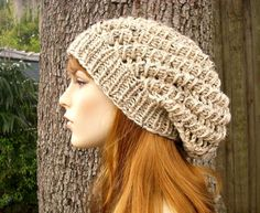 Instant Download Knitting Pattern  Womens Hat Pattern by pixiebell