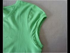 How to make t-shirt sleeves into cap sleeves - YouTube
