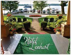 Porch View from the Hotel Lenhart, Bemus Point, NY